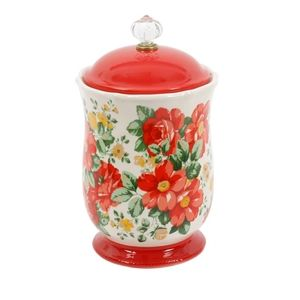 Pioneer woman 10in vintage floral canister